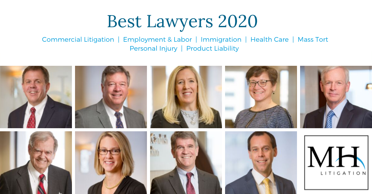 LinkedIn - Head shots of 9 attorneys recognized by Best Lawyers 2020