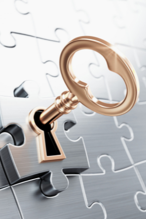 McCandlish Holton Workers' Compensation Seminar 2021 Logo (puzzle with lock and key)